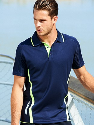 MENS REFLECTIVE CONTRAST SPORTS POLO