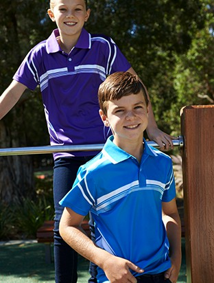 KIDS  SUBLIMATED GRADATED POLO